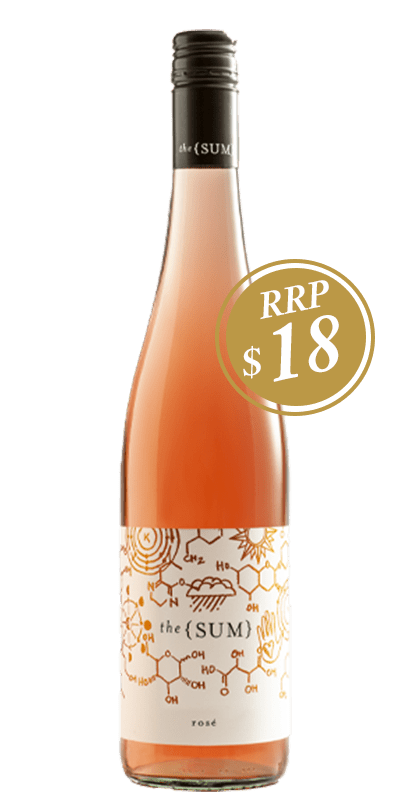 The Sum Rose bottle shot with RRP